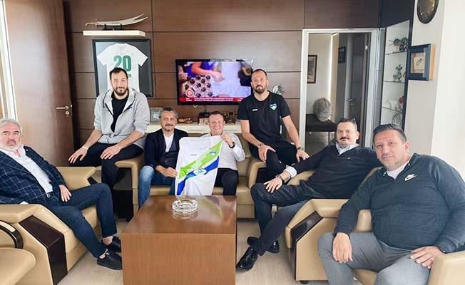 Merkezefendi Basket'ten Çetin'e ziyaret