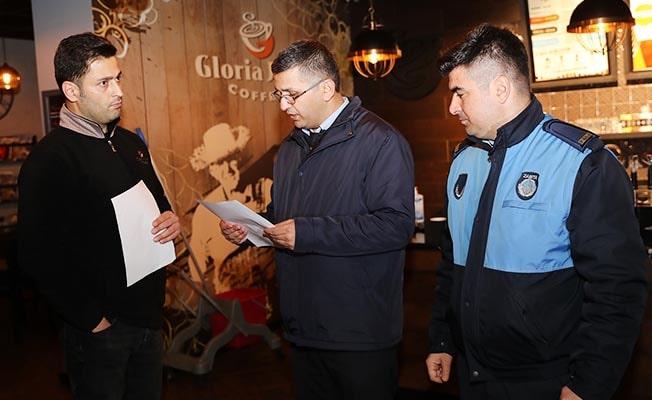 Pamukkale Belediyesi Zabıtasından kapatma denetimi