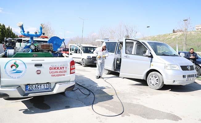 Pamukkale Belediyesi'nden dezenfekte atağı