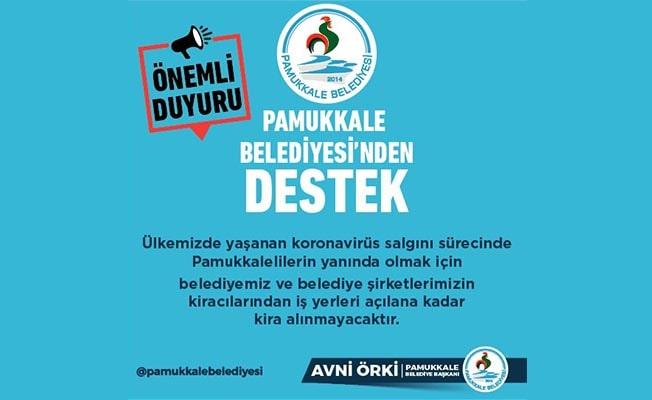 Pamukkale Belediyesi'nden kira ertelemesi