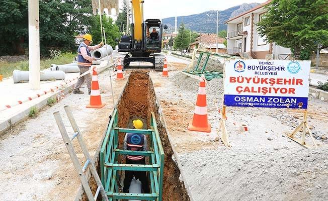 Baklan'da 114 kilometrelik altyapı hattı tamamlandı