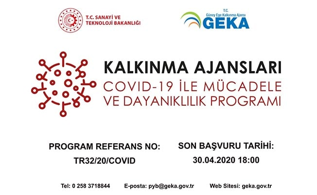 GEKA'dan Covid-19 ile mücadeleye 6 Milyon TL'lik destek mali programı