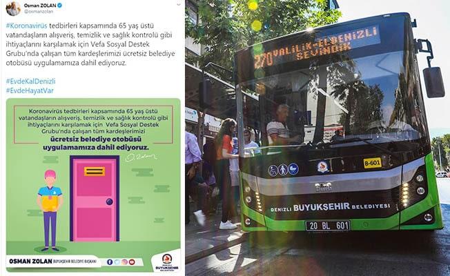 Vefa Destek Grubu personeli belediye otobüsleri ücretsiz