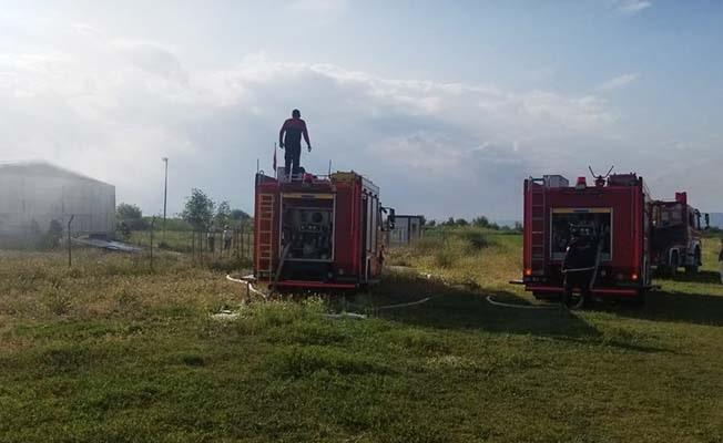 Depoda yangın çıktı; 2 Gyrocopter yandı