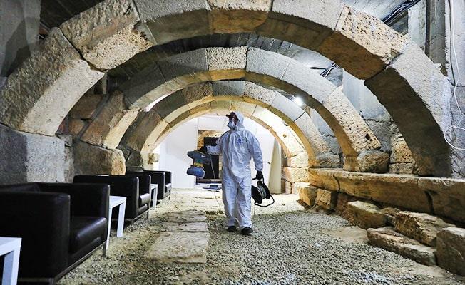 Hierapolis Antik Tiyatro konser öncesi dezenfekte edildi