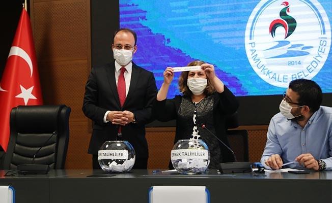 Pamukkale Belediyesi'ne alınacak 50 İşçi Noter huzurunda belirlendi