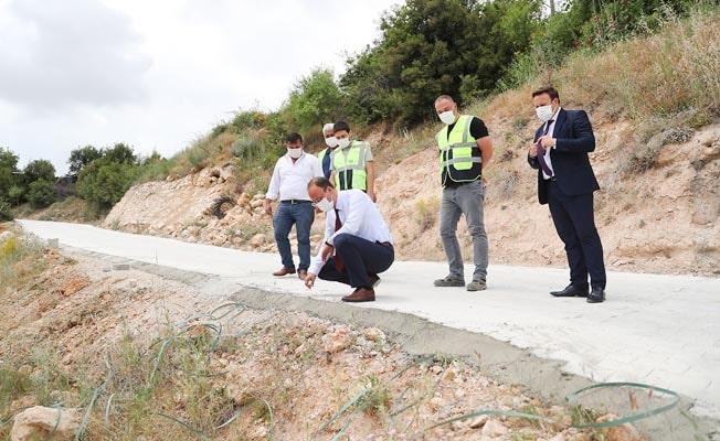 Akdere'de yollar yenilendi