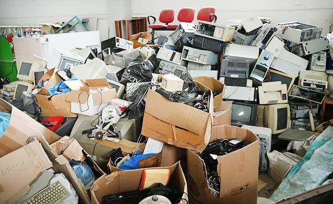Merkezefendi'de 6,5 ton elektronik atık toplandı