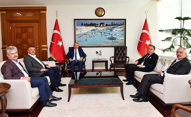 Vali Atik'e Siirt ilçe belediye başkanlarından ziyaret