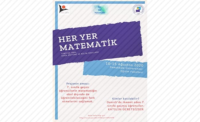 PAÜ'de 'Her Yer Matematik' Projesi için başvurular başladı