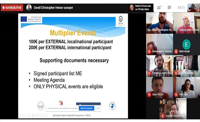 Tek Türk Üniversite ortağı PAÜ olan ESLP'nin son toplantısı online ortamda gerçekleştirildi
