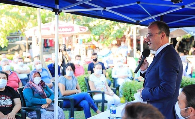 Başkan Örki Karahayıt ve Yukarışamlı'da vatandaşlarla bir araya geldi