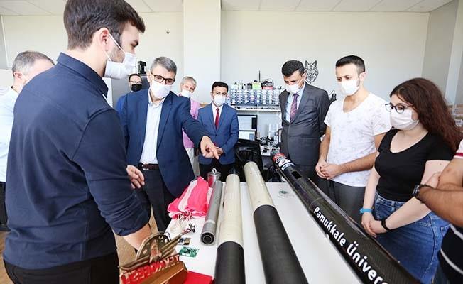 Rektör Vekili Prof. Dr. Kutluhan, Pamukkale Teknokent'te incelemelerde bulundu