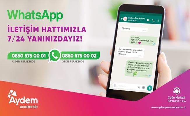 AYDEM, WhatsApp iletişim hattıyla 7/24 hizmet verecek
