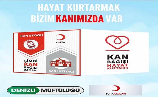Müftülükten Kızılay'a kan bağışı desteği