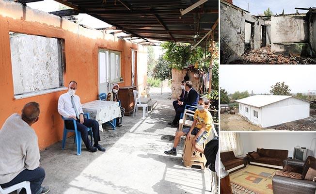 Pamukkale Belediyesi Doğanlı ailesinin yaralarını sardı