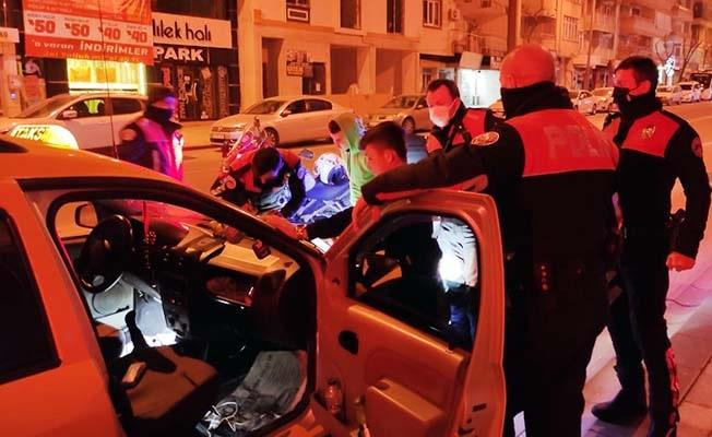 6 kişiyle kaçmaya çalışan taksi şoförünü yunus timleri durdurdu