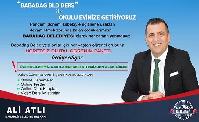 Babadağ Belediyesi'nden her öğrenciye 'Dijital Öğrenim Paketi'