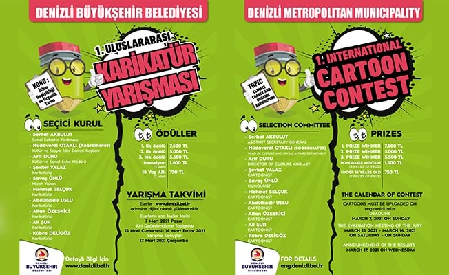 Büyükşehir karikatür yarışmasını uluslararası düzeye taşıdı
