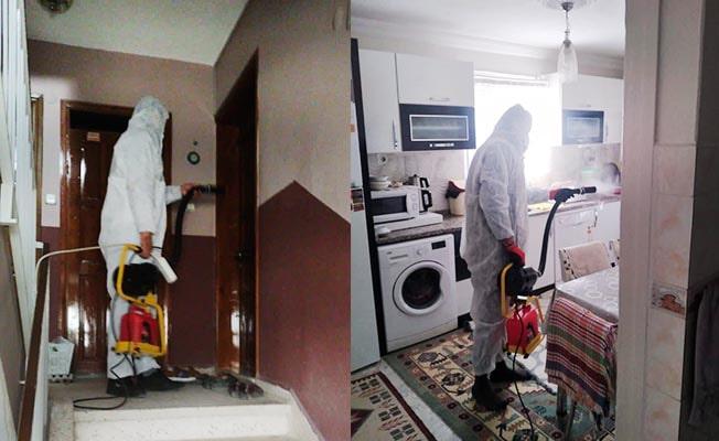 Sarayköy'de 412 ev dezenfekte edildi