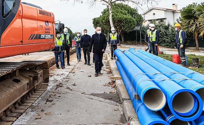 Yenişehir'in 30 yıllık içme suyu hatları yenileniyor