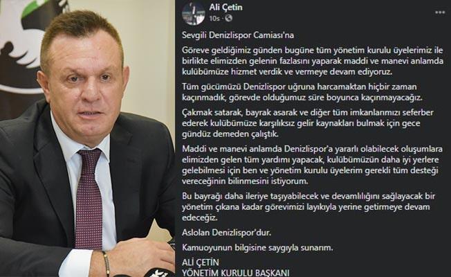 Başkan Çetin'den meraklandıran açıklama