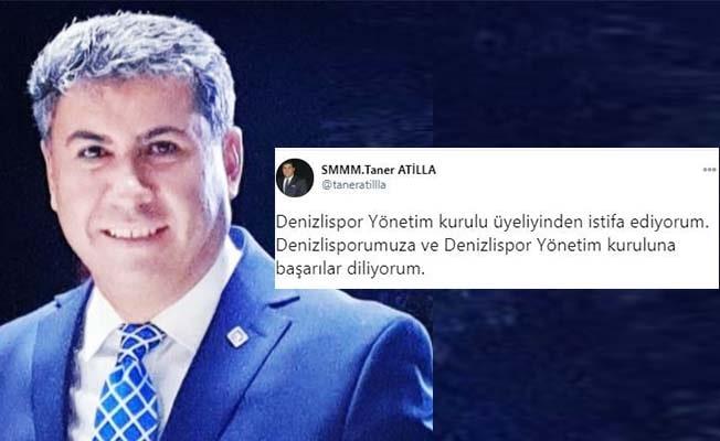 Denizlispor'da Taner Atilla istifa etti