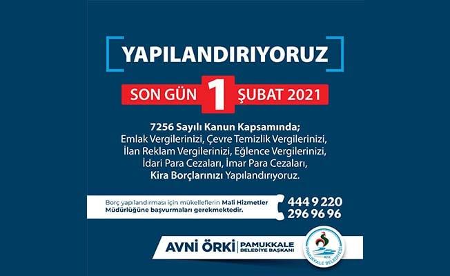 Pamukkale Belediyesi yoğunluk nedeniyle yapılandırma süresini uzattı