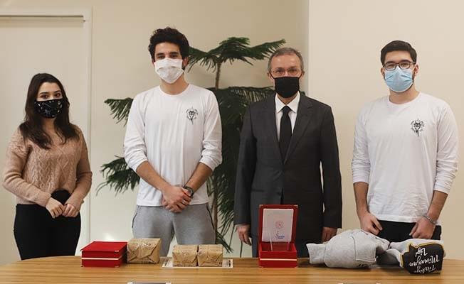 Yarışmalarda dereceye giren öğrencilerden İbanoğlu'na ziyaret
