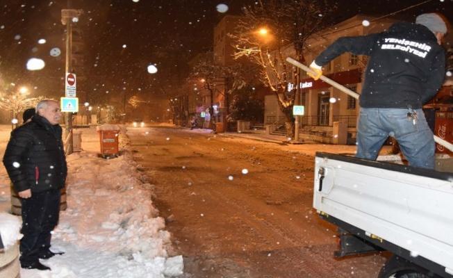 Bursa Yenişehir'den zorlu kar mesaisi