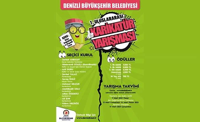 Büyükşehir Uluslararası Karikatür Yarışması eserlerini bekliyor