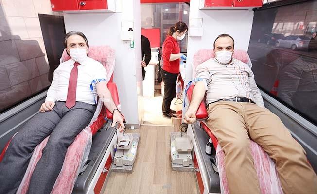 Kan bağışı kampanyasına Denizli Büyükşehir DESKİ'den 10. kez destek