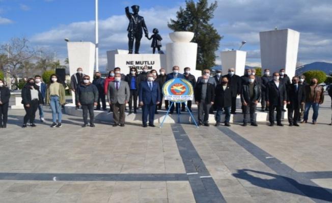 Muğla Fethiye'de THK'nın 96. kuruluş yıldönümü kutlandı