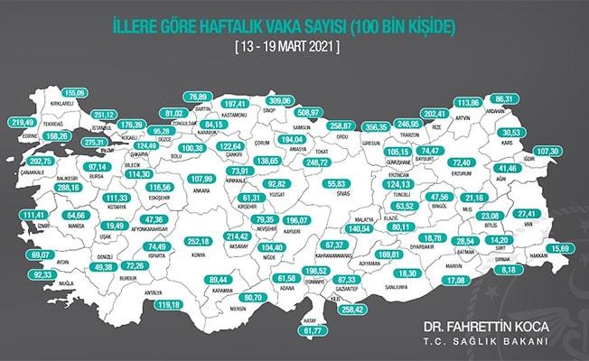 Denizli'de vaka sayısı 100 binde 49.38 oldu
