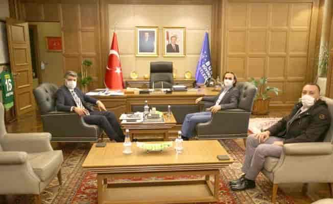 KBC Kurucu Başkanı Çağlar'dan Akhan'a ziyaret
