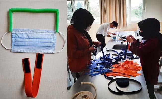 Öğretmen ve öğrencilerin maskeyle siperliğin bir arada olduğu tasarımı tescillendi