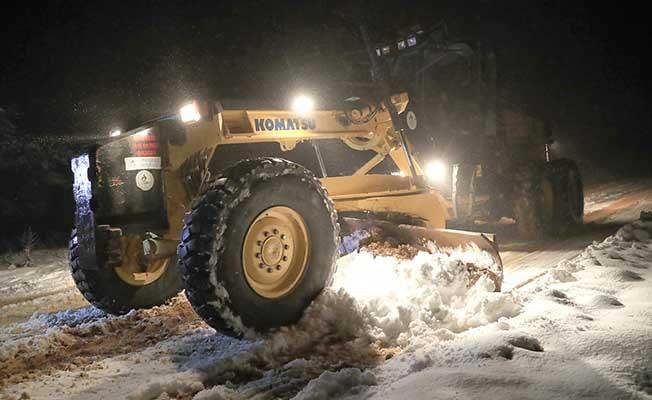 Pamukkale karla mücadele devam ediyor