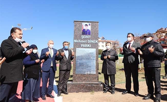 Tavas Belediyesi Afrin Şehidi Mehmet Dinek'in adını Tavas'ta yaşatacak