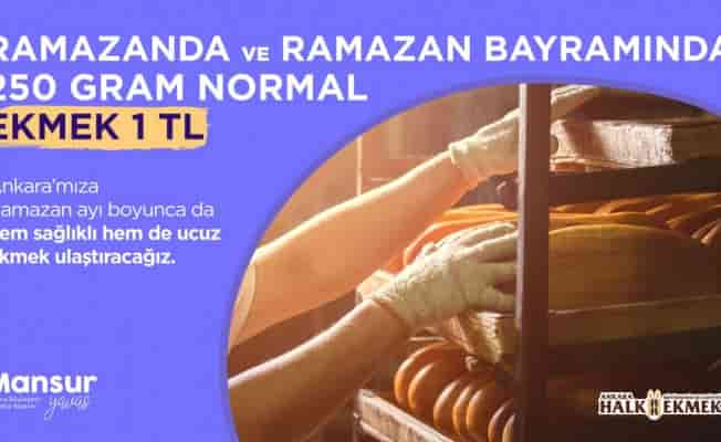 Ankara'da Halk Ekmek 1 liradan satılacak