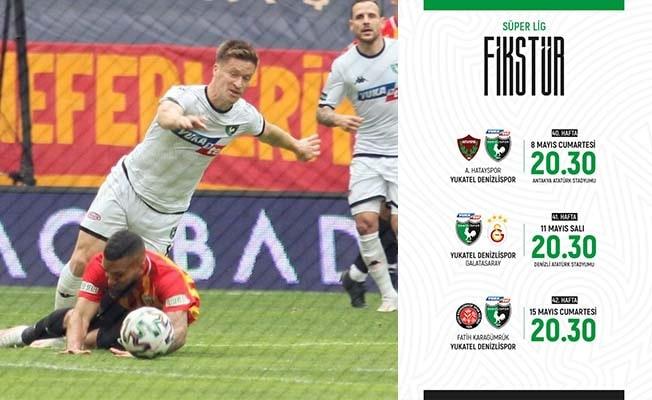 Denizlispor, Süper Lig'de 40, 41 ve 42. haftanın programları açıklandı