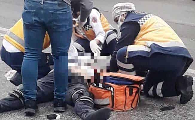 Kazada ağır yaralanan motokurye hayatını kaybetti