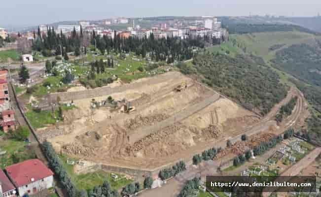 Kocaeli'de Dilovası mezarlıklarında son rötuşlar