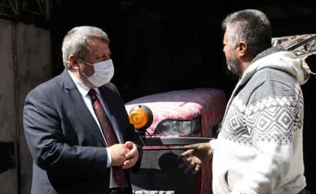 Manisa'da yangın mağdurlarına destek ziyareti
