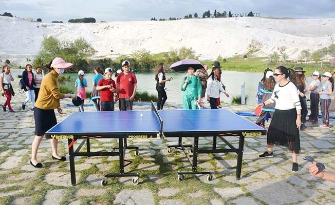 Pamukkale'nin eşsiz güzelliğinde 'Dünya Masa Tenisi Günü' kutlanacak