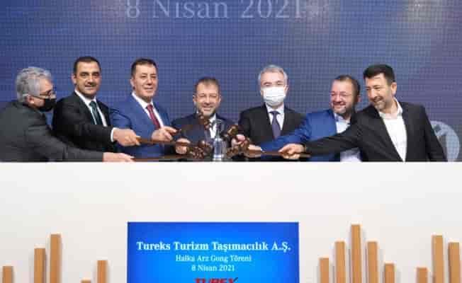 Tureks Turizm'in hisseleri için 'gong' töreni