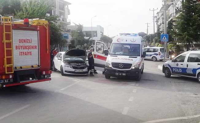 Araması olan sürücü kaza yapınca gözaltına alındı