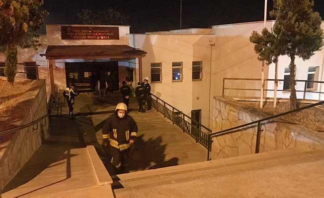 Bodrum Vergi Dairesi'nde korkutan yangın