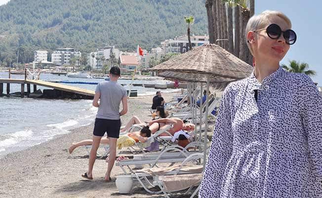 Denizin tadını Ukraynalı turistler çıkarıyor