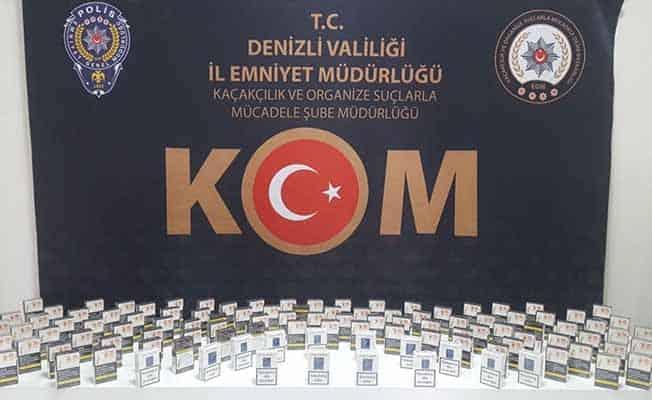 Denizli'de kaçak tütün ürünü satıcılarına operasyon: 2 gözaltı