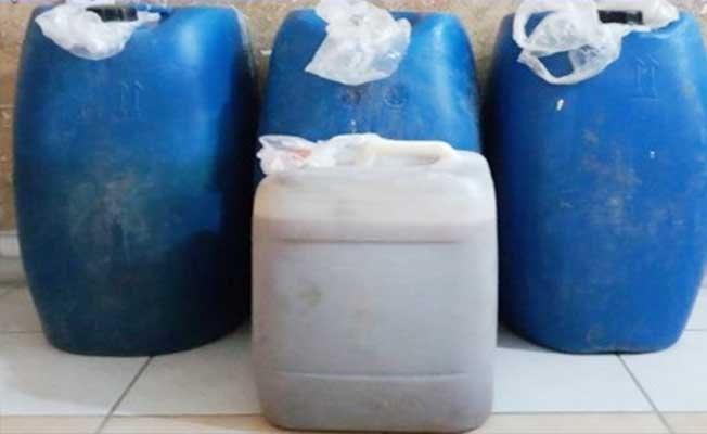 Şüpheli araçtan 200 litre kaçak şarap çıktı